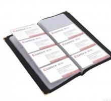 齐心 NU160 便携式名片册 黑色