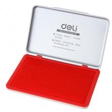 得力(deli) 9893 金属方形大号秒干印台(红色)