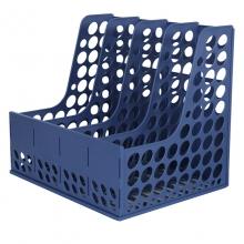 得力(deli) 9844 四格塑料文件栏(蓝色)