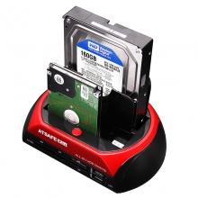 安链(ATSAFE) 575u3 多功能硬盘座IDE/SATA3.0 带读卡器HUB