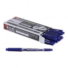 金万年(Genvana)G-0920 油性记号笔 速干勾线笔 三色小双头记号笔 蓝色