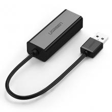 绿联 CR110 USB转RJ45网线接口 黑色-小巧款