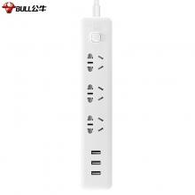 公牛(BULL) GN-B403U 智能USB新国标插座 3usb接口 3孔1.8米