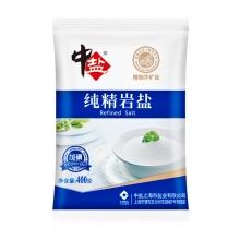 中盐 食用盐 加碘纯精岩盐 烹调炒菜盐 加碘盐 调味品调料 400g