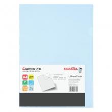 齐心(Comix) E310 A4二页文件套 L型文件夹 浅蓝色