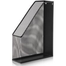 得力(deli)9186 单格文件栏 金属网状杂志盒(黑色)