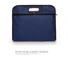 斯莫尔 SL-505 尼龙面料文件袋 深蓝色 办公用品 37*21*4cm