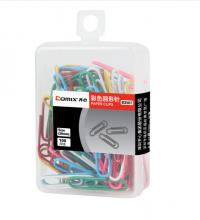齐心(COMIX) B3507 彩色回形针 100枚/盒