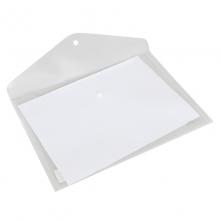 得力(deli) 5505 A4透明按扣文件袋(白色)