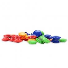 得力(deli)8725 彩色磁钉/磁扣 直径30mm 48粒/筒