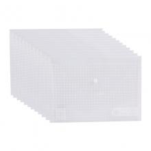晨光(M&G) 按扣袋 94516 方格 白色 12个/包