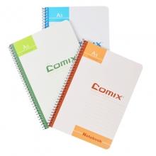 齐心(COMIX) C4514  A5  50页  螺旋本  颜色随机 12本/包