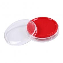 晨光(M&G)AYZ97512 圆形透明快干印台 红色