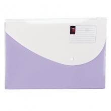 得力(deli) 5506 糖果色横式按扣文件袋 紫色 10个/包