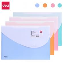 得力(deli) 5506 糖果色横式按扣文件袋 粉红色 10个/包