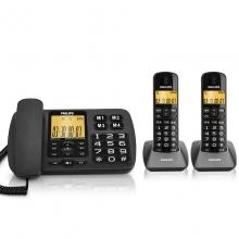 飞利浦(PHILIPS) DCTG152 数字无绳电话机 一拖二 黑色