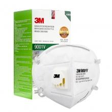 3m 9001v kn90带呼吸阀防颗粒物口罩 耳戴式 25只/盒