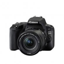 佳能(Canon) 数码单反照相机 EOS 200D套机 黑色(EF-S 18-55mm f/4-5.6 IS STM)