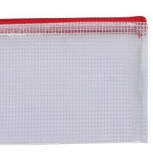 齐心(COMIX)A1054 A4防潮网格拉链袋 颜色随机 10个/包