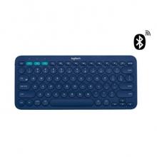 罗技(Logitech) K380蓝牙键盘+蓝牙4.0适配器 (蓝色)