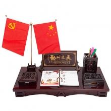 朗捷 2019 商务桌面木质台历 大号-天道酬勤