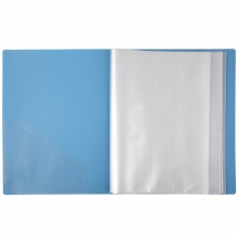 齐心(COMIX) VF30AK A4 30页资料册 蓝色 12本/箱