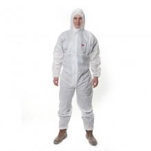 3M 4515 透气带帽连体防护服 白色 L