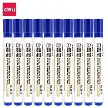 得力(deli) 6817 可擦白板笔 10支/盒 蓝色