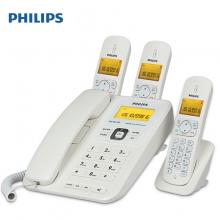 飞利浦(PHILIPS) DCTG182 一拖三电话子母机 白色