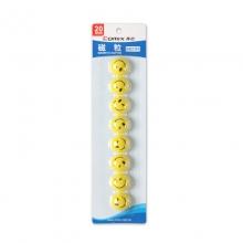 齐心(COMIX) BB2385 笑脸磁扣 20mm 8个/卡