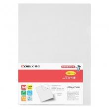 齐心(COMIX) E310 L型二页文件套 A4 红色 10个/包 12包/箱
