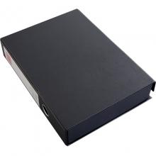 齐心(COMIX) A1297 A4 55MM 磁扣式档案盒 (黑色)