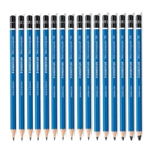 施德楼(Staedtler) 100-3B 蓝杆绘画素描铅笔 (单支装)