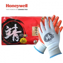 霍尼韦尔 HONEYWELL JN230丁腈橡胶掌浸防滑耐磨耐油机械工作手套劳保防护手套8码靖系列100副/箱