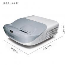 明基(BenQ)DW862UST超短焦投影仪 办公教学培训 宽屏高清3D短焦投影机