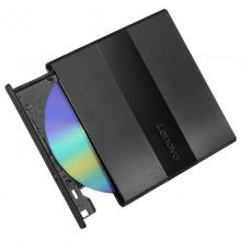 联想(Lenovo)8倍速 USB2.0 外置光驱 DVD刻录机  黑色(兼容Win7/8/10/XP/苹果MAC双系统/DB75-Plus