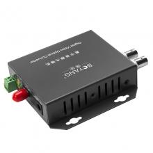 博扬(BOYANG)BY-2V1D 视频光端机2路视频+1路485反向数据 光纤传输FC接口单模单纤 1对