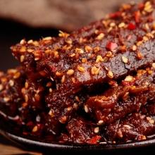 蜀道香 肉干肉脯 零食特产 天椒霸道麻辣牛肉干200g