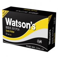 屈臣氏(Watsons) 苏打汽水330ml*24听 整箱
