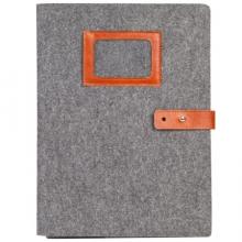 齐心 (Comix) A5209 毛毡简易便携 文件套/事物包/收纳袋 灰