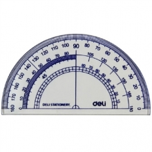 得力(deli)9597  绘图尺子四件套尺(直尺+三角尺*2+量角器)