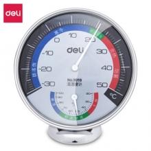 得力 (deli)9010  台式免电池大表盘室内温湿度计 大号
