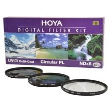 保谷(HOYA)UV镜67mm滤镜 偏振镜 NDX8 减光镜 套装