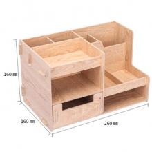 得力 79231 组合多功能收纳盒(棕色)