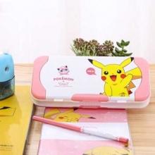 得力 70868 皮卡丘塑料文具盒(浅红)