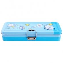 得力 95556 三层文具盒(蓝)