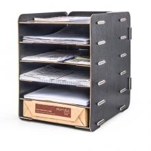 金隆兴(Glosen) D9120 DIY五层木质文件盘 25.8*31.5*34.2cm 原木色