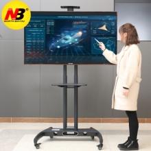 NB CA55(32-65英寸)液晶电视显示器触摸屏广告机移动推车视频会议移动落地支架挂架