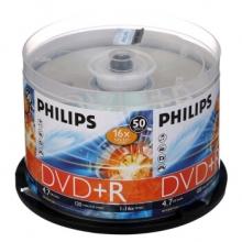 飞利浦(PHILIPS) DVD+R 16速 4.7G 桶装 刻录光盘 50片/桶