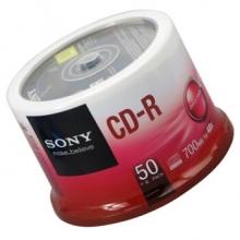 索尼(SONY) CD-R 48速  700MB 光盘/刻录盘 50片/桶